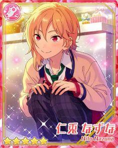 """As expected of Hajime-chin. You're so sensible~♪"" Akatsuki, Star Cards, Star Pictures, Ensemble Stars, Touken Ranbu, Anime Comics, Sword Art Online, Game Design, My Idol"