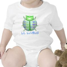 "Green 3D ""Lil LuvBug"" w/Hearts Shirt"