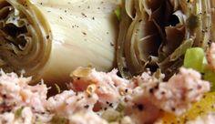 Insalata di tonno, carciofini, mais, finocchi e olive Olives, Potato Salad, Potatoes, Ethnic Recipes, Food, Fennel, Meal, Potato, Eten