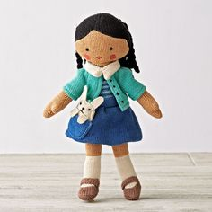 Shop Knit Crowd Toddler Doll Brunette.  One doll's a pal.  Two is company.  And three's a crowd.  Especially when they're these super soft, hand knit dolls with stylish outfits and pets.  Plus, they're perfectly sized for toddlers, too.