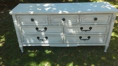 Drexel dresser 1960's refinished in pure white shabby chic by Pookie Doo's llc
