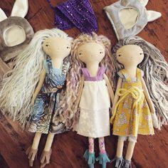 And with their ✨hats off✨ In my shop today 8:00 pm EST #mushroomparasols #handmadedoll #handmadetoy #bunny #clothdoll #kidsdecor #ragdoll #handmade