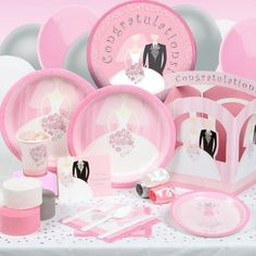 Bridal Bouquet tableware features a beautiful bride holding a delicate pink flower bouquet. This bride design is printed in soft pink and surrounded by a white and pink floral border. Our Bridal Bouquet wedding ensemble is perfect for many occasions including Bridal Showers, Engagement Parties, and Weddings.    http://www.hensandbrides.com.au/catalog.htm?keyword=bridal+bouquet=advand=
