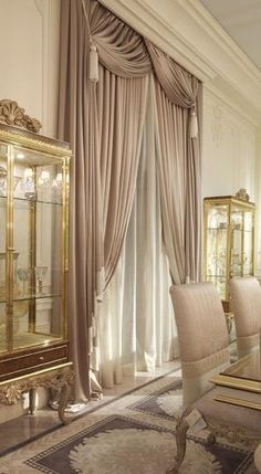 35 super Ideas for living room elegant decor curtains Diy Bay Window Curtains, Home Curtains, Curtains Living, Curtains With Blinds, Window Blinds, Mini Blinds, Wood Blinds, Sheer Curtains, Luxury Curtains
