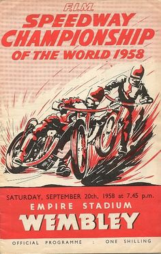 1958 World Speedway Championship at Wembley...