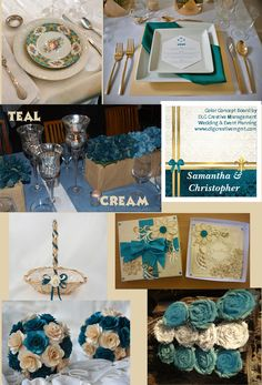 Teal And Cream Ideas Inspirations For Using With Your Event Or