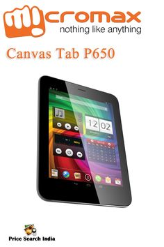 Micromax Canvas Tab P650 with 8-inch display launched at the price of Rs 16500. For more details like - Specification, Features and more visit with us.