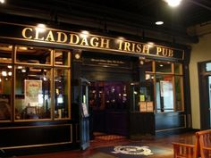 Claddagh Irish Pub-Newport Kentucky.  Great food, beer and view of Cincy