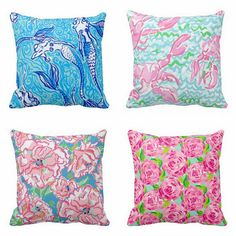 Lilly Pulitzer Pillow 16 x 16 inches by BluegrassSassLC on Etsy, $30.00