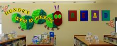 March-May 2018 - The Very Hungry Caterpillar makes an appearance. Lots of recycled materials in this one!