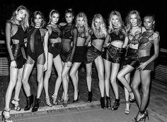 Victoria's Secret Angels, late 2015: Martha Hunt, Sara Sampaio, Stella Maxwell, Taylor Hill, Elsa Hosk, Candice Swanepoel, Romee Strijd, Josephine Skriver, and Jasmine Tooks.