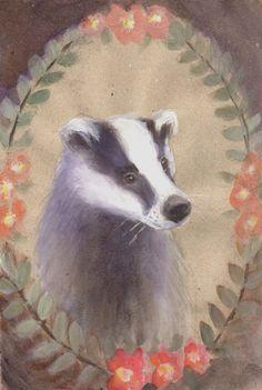 PORTRAIT OF BADGER Watercolor Greeting Card set - Badger Card - Blank Greeting Card - Folded Card - Animal Card - Art Card by SleepyBearsArt on Etsy
