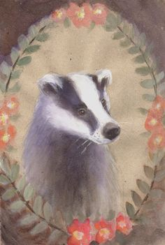 PORTRAIT OF BADGER Watercolor Greeting Card set - Badger Card - Blank Greeting Card - Folded Card - Animal Card - Art Card by SleepyBearsArt on Etsy