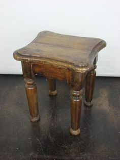 Antique 19th Century French Petite Side Table/Stool Heavy Carved Legs, French, Circa 1890  Four Available in Our Dallas Location