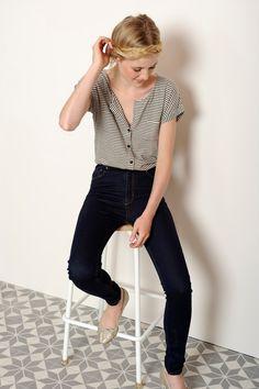 t-shirt m. courtes Fable noir beige chiné - T-shirts manches courtes - categories - e-shop