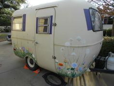 Wouldn't these whimsy flowers look adorable all the way around our camper bus? @Bailey Francine Francine McEuen