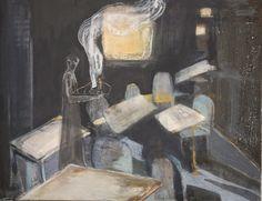 Cathrine Boman - Cafévertens hemmelighet - Acryl på lerret,  80 x 100 cm