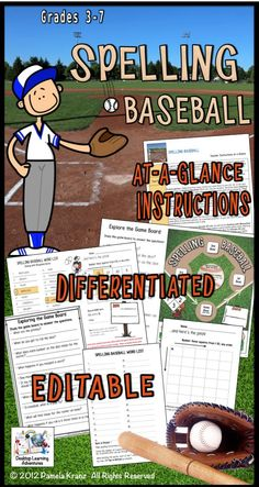 How To Produce Elementary School Much More Enjoyment Spelling Baseball Is A Fun, Differentiated Way For Kids To Practice Their Spelling. Spelling Games, Spelling Practice, Spelling Activities, Project Based Learning, Fun Learning, Assessment For Learning, Education Middle School, English Language Arts, Differentiation