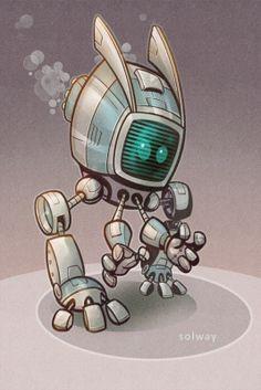 Robots by Jeff Solway, via Behance