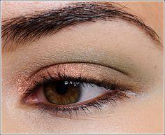 MAC Magnetic Attraction, Aurora, Water Mineraelize Eyeshadows; Burberry Trench Eyeshadow (highlight). From Temptalia.