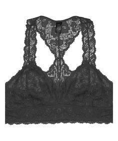 Look what I found on #zulily! Black Floral Lace Racerback Bralette by JDF Designs #zulilyfinds