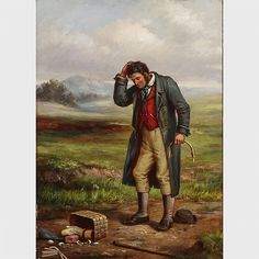 Septimus Dawson (1851), THE BROKEN BASKET, 30' x 21.5' - 76.2 x 54.6 cm.