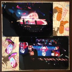 Brad Paisley Concert; Page 5 ... 8 by 8 scrapbook page featuring country themed paper and stickers.