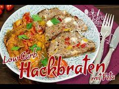 Low Carb Hackbraten mit Feta und buntem Paprikagemüse Rezept