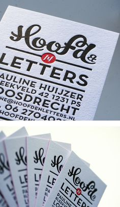 Hoofd Business cards | Business Cards | The Design Inspiration