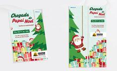 Criação de folheto e adesivo de porta de entrada para a campanha de Natal do Center Shopping.