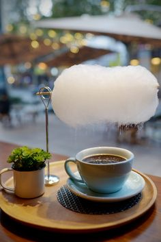 From Tuttifoodie: For a walk on the wilder side: you can head to Shanghai, where Third-Wave meets molecular gastronomy. Order up a Sweet Little Rain from Mellower. Your coffee will arrive with a cloud of cotton candy suspended over it. When steam from the coffee hits the cloud, it'll condense, enabling sweetness to drizzle down.