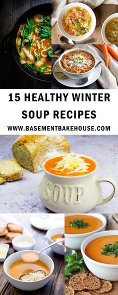 15 Healthy Soup Recipes To Get You Through The Winter These delicous winter soup recipes are the perfect health soup ideas to get you through cold months! Healthy, easy to make and delicious, they're perfect for dinner, lunch or meal prep! Easy Healthy Dinners, Easy Healthy Recipes, Healthy Cooking, Healthy Snacks, Vegetarian Recipes, Healthy Eating, Cooking Recipes, Healthy Christmas Recipes, Cooking Kale