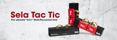 """Perfect for cajons: The #Sela Tac Tic. It's a """"3in1"""" multi-percussion-tool!"""
