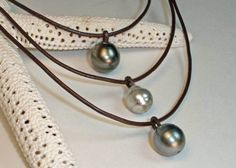 pearl and leather jewelry - Google Search