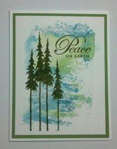 handmade Christmas card ... Smackin  Acetate technique ... Peace by muscrat  ...