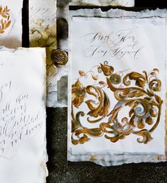 Luxury gold wedding invitations with  baroque influence by Crimson Letters. Click to the link to view the full collection and get in touch to start talking about your custom suite.