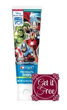 Walmart: Free Kid's Crest Pro-Health Stages Toothpaste