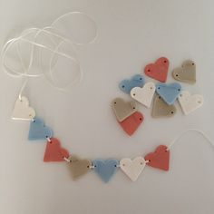 This weekend was a valentines weekend, and I marked the occasion making a little heart garland for our bedroom. I have recently become aware of something called air dry clay. It seems like there ar...