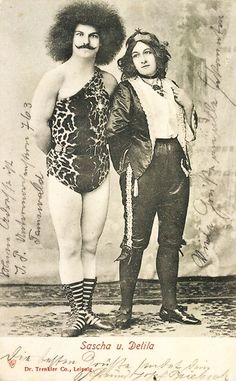 Sascha and Delila - 1905 - Sideshow Performers - Postcard by Dr. Trenkler & Co., Leipzig - @~ Mlle.