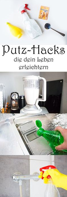 Household Tips: 10 ingenious cleaning hacks that make your life easier - Ina - - Haushalttipps: 10 geniale Putz-Hacks, die dein Leben erleichtern Cleaning hacks that make your life easier – DIY cleaner – Clean up the household – Spring cleaning - Diys Room Decor, Diy Home Decor Projects, Diy Projects To Try, Decor Crafts, Wood Crafts, Sewing Projects, Pot Mason Diy, Mason Jars, Wine Bottle Crafts