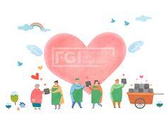 PAI118, PAI118b, 에프지아이, 따뜻한세상, 사람, 캐릭터, 오브젝트, 겨울, 사회복지, 복지, 나눔, 사랑, 행복, 연탄, 봉사, 하트, 남자, 여자, 군중, 할머니, 따뜻한, 일러스트, illust, illustration #유토이미지 #프리진 #utoimage #freegine 19486951