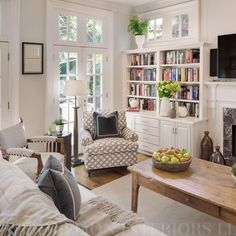 Classic Family Room with Built-ins