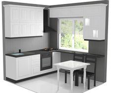 Modern Home Decor Kitchen Mini Kitchen, Little Kitchen, New Kitchen, Home Decor Kitchen, Kitchen Living, Home Kitchens, Kitchen Cupboard Doors, Kitchen Cabinets, Compact Kitchen
