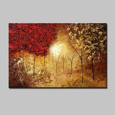 Pictat manual Abstract Peisaj Peisaje Abstracte Orizontal,Modern Un Panou Canava Hang-pictate pictură în ulei For Pagina de decorare 2017 - $44.19