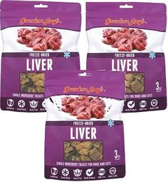 (3 Pack) Grandma Lucy's Freeze Dried Liver SINGLES Pet Treats, 3 Ounces each ** Check this awesome product by going to the link at the image. (This is an affiliate link and I receive a commission for the sales) #MyDog