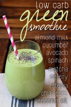 Looking for a healthy breakfast recipe that isn't eggs? Try this low carb & paleo green breakfast smoothie loaded with powerhouse ingredients to start your day. Pin it for breakfast later! http://www.tasteaholics.com