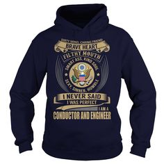 Conductor and Engineer We Do Precision Guess Work Knowledge T-Shirts, Hoodies. Check Price Now ==► https://www.sunfrog.com/Jobs/Conductor-and-Engineer--Job-Title-101413291-Navy-Blue-Hoodie.html?41382