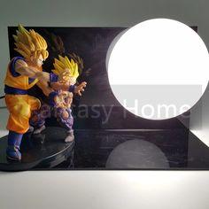 Dragon Ball Z Action Figure Son Goku Gohan Kamehameha DIY Display Toy Dragonball Z Son Gokou Esferas Del Dragon DBZ+Base +Bulb