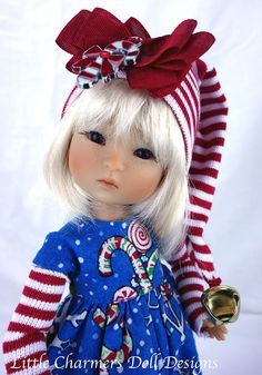 "Romper Fits Ten Ping BJD 8"" Doll Fits Ruby Red Galleria Littlecharnersdollds 