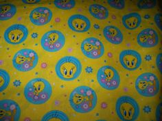 Tweety Bird Eyes Cotton Fabric,Cartoon Fabric,1 Yard by susiesfabrics on Etsy